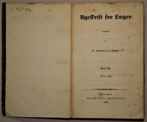 Ugeskrift for Læger 1841